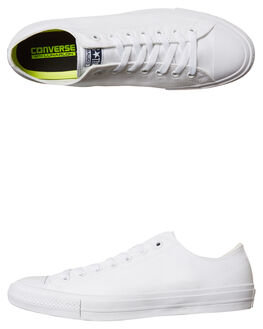 WHITE WHITE WOMENS FOOTWEAR CONVERSE SNEAKERS - SS150154WHIW