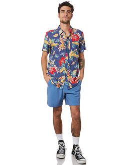 BLUE MULTI MENS CLOTHING THE CRITICAL SLIDE SOCIETY SHIRTS - SS1869BLUE
