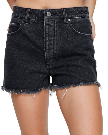 FADED BLACK WOMENS CLOTHING RVCA SHORTS - RV-R491311-FAD