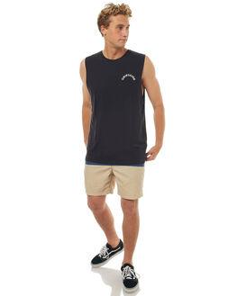 BLACK MENS CLOTHING QUIKSILVER SINGLETS - EQYZT04644KVJ0