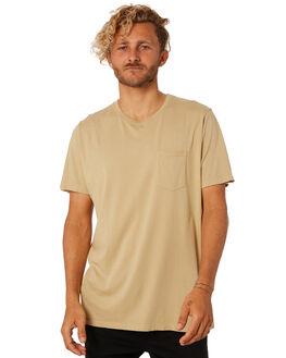 KHAKI MENS CLOTHING KATIN TEES - KNBAS00KHAKI