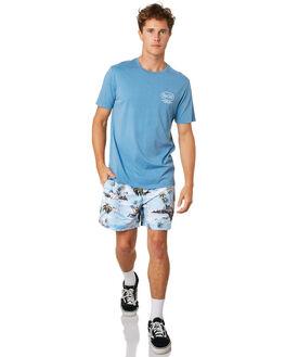 DENIM BLUE MENS CLOTHING RIP CURL TEES - CTEQA24983