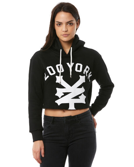 BLACK WOMENS CLOTHING ZOO YORK JUMPERS - ZY-WFA8325BLK