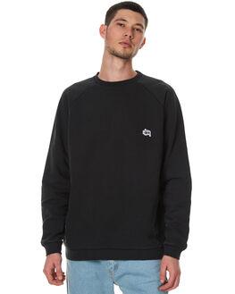 WASHED BLACK MENS CLOTHING STUSSY JUMPERS - ST077201WBLK
