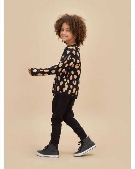 BLACK KIDS GIRLS HUXBABY JUMPERS + JACKETS - HB2173_4