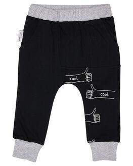 BLACK KIDS BOYS TINY TRIBE PANTS - TTBW18-3006QBLK