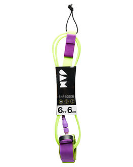 GREEN PURPLE BOARDSPORTS SURF JAM TRACTION LEASHES - LH6M6FFLUOR