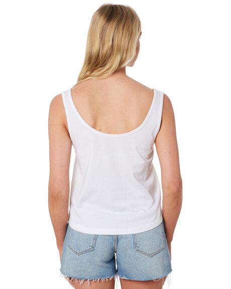 WHITE WOMENS CLOTHING RIP CURL SINGLETS - GTEJH91000