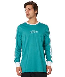 ACTIVE GREEN WHITE MENS CLOTHING ADIDAS TEES - DU8393GRN