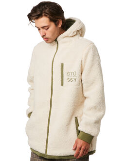FLIGHT GREEN CREAM MENS CLOTHING STUSSY JACKETS - ST096502FLGRN