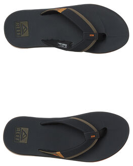 ORANGE GREY MENS FOOTWEAR REEF THONGS - A3KIHORG