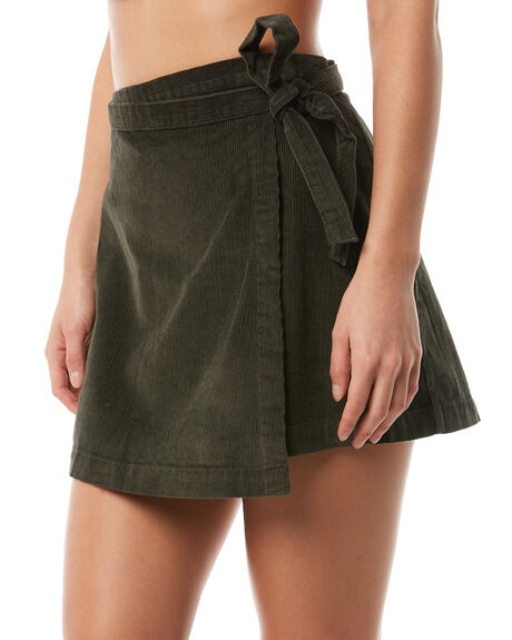 MILITARY GREEN WOMENS CLOTHING RVCA SKIRTS - R283831MIL