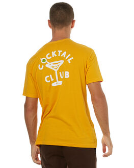 GOLD MENS CLOTHING GOOD WORTH TEES - TCC1741GOLD