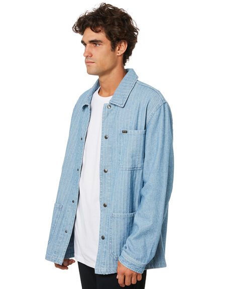 WORN INDIGO MENS CLOTHING BRIXTON JACKETS - 03295WNIDG