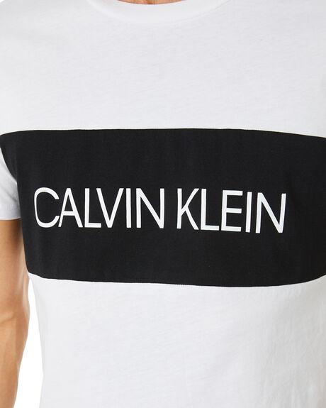 CLASSIC WHITE MENS CLOTHING CALVIN KLEIN TEES - KM00477-YCD
