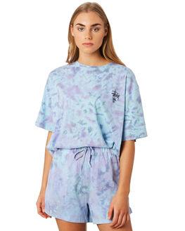 LAVENDER TIE DYE WOMENS CLOTHING STUSSY TEES - ST192112LAV