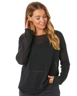 WASHED BLACK WOMENS CLOTHING THRILLS KNITS + CARDIGANS - WTA9-204BWBLK