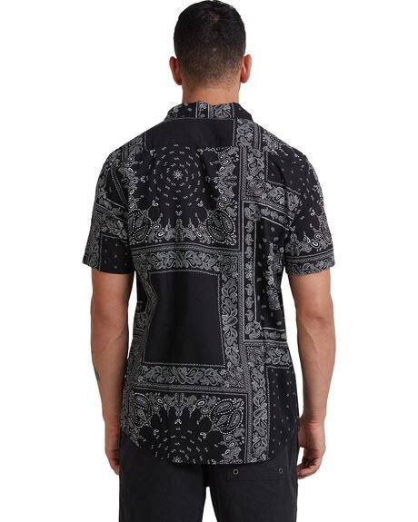 BLACK MENS CLOTHING RVCA SHIRTS - R315184-BLK