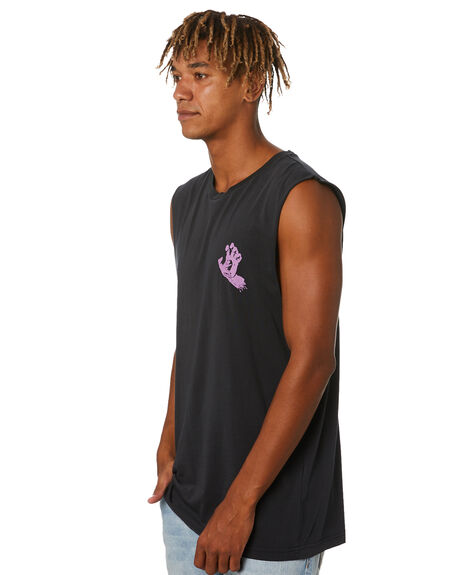 PIGMENT BLACK MENS CLOTHING SANTA CRUZ SINGLETS - SC-MTA0827PBK
