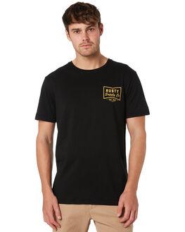 BLACK MENS CLOTHING RUSTY TEES - TTM2204BLK