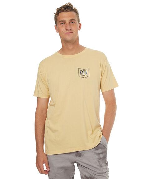 YELLOW MENS CLOTHING KATIN TEES - TSGRUH17YLW