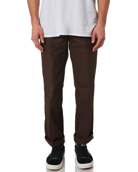CHOCOLATE BROWN MENS CLOTHING DICKIES PANTS - WP873CBRN