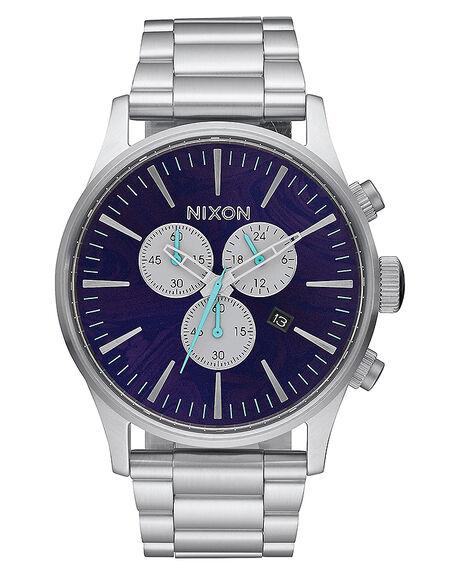 Watch Links Nixon Purple: Nixon Sentry Chrono Watch - Purple