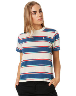 WHITE FLASH WOMENS CLOTHING VOLCOM TEES - B0141906WHF
