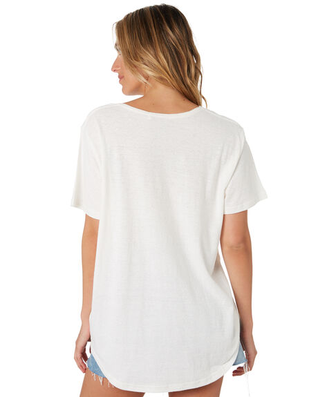 WHITE WOMENS CLOTHING RIP CURL TEES - GTEDF21000
