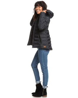TRUE BLACK WOMENS CLOTHING ROXY JACKETS - ERJJK03250-KVJ0