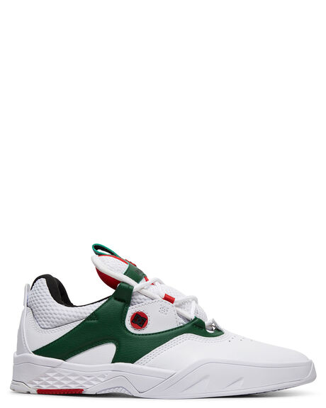 WHITE/GREEN MENS FOOTWEAR DC SHOES SNEAKERS - ADYS100507-WGN