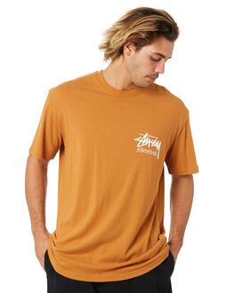 NEW TAN MENS CLOTHING STUSSY TEES - ST006001NTAN