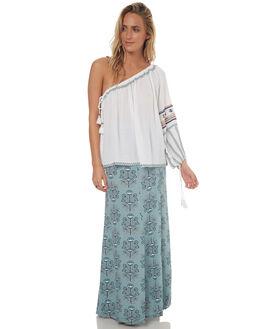 WHITE WOMENS CLOTHING TIGERLILY FASHION TOPS - T372053WHT