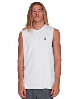 WHITE MENS CLOTHING VONZIPPER SINGLETS - VZ-3994502-WHT