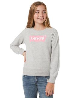 LIGHT GREY HEATHER KIDS GIRLS LEVI'S JUMPERS + JACKETS - 37382-0012G2H