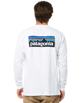 WHITE MENS CLOTHING PATAGONIA TEES - 39161WHI