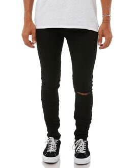 CUT BLACK MENS CLOTHING CHEAP MONDAY JEANS - 0377863CUTBK