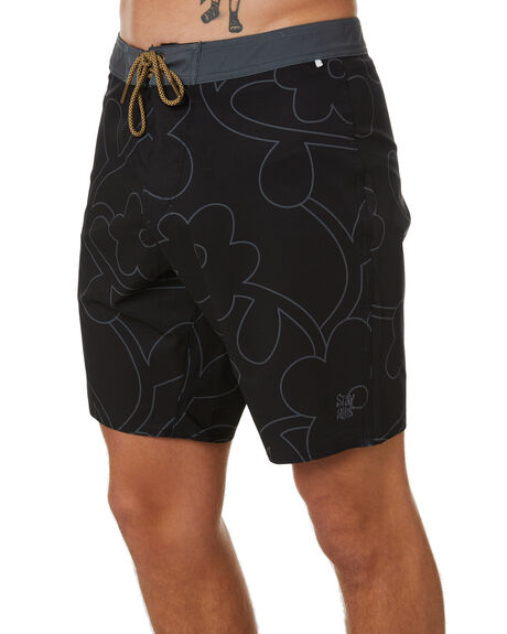 BLACK MENS CLOTHING STAY BOARDSHORTS - SBO-20414BLK