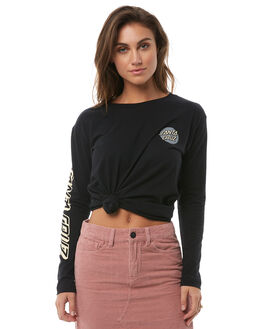 BLACK WOMENS CLOTHING SANTA CRUZ TEES - SC-WLA8567BLK