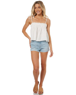 SILVERLAKE WOMENS CLOTHING WRANGLER SHORTS - W-950954-EB6SLK