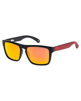 BLACK LAYER RED MENS ACCESSORIES QUIKSILVER SUNGLASSES - EKS4077XKRR