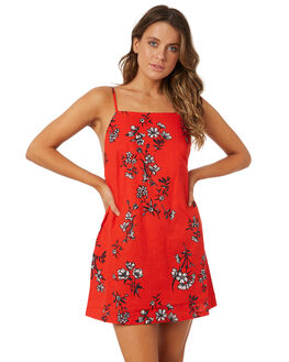 POPPY RED WOMENS CLOTHING BILLABONG DRESSES - 6571482PPRED
