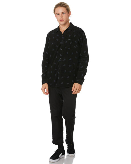 BLACK OUTLET MENS RVCA SHIRTS - R393203BLK
