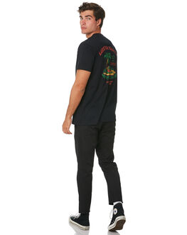 BLACK MENS CLOTHING THE LOBSTER SHANTY TEES - LBSWILTEEBLK