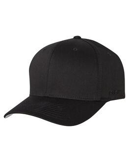 BLACK MENS ACCESSORIES FLEX FIT HEADWEAR - 162602-BLK