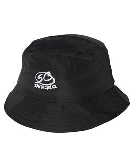 BLACK MENS ACCESSORIES SANTA CRUZ HEADWEAR - SC-MCA9110BLK
