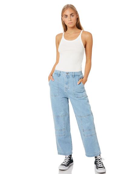 BLUE WOMENS CLOTHING STUSSY PANTS - ST105604BLU