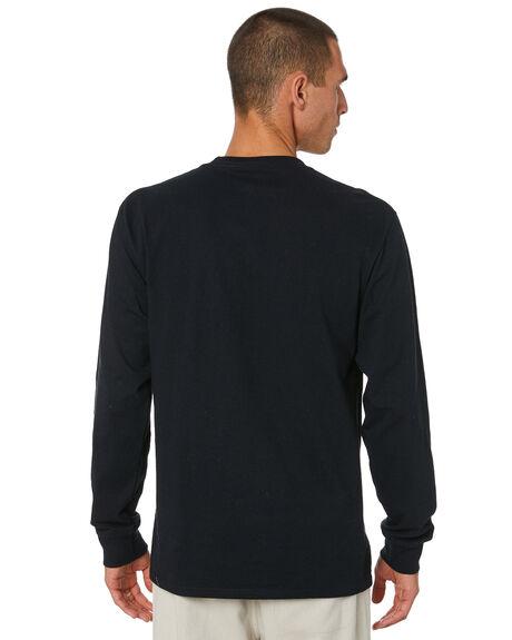 BLACK MENS CLOTHING HUF TEES - TS01182BLACK