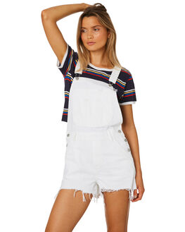 WHITE AND TRASHED WOMENS CLOTHING LEE PLAYSUITS + OVERALLS - L-656561-GL3