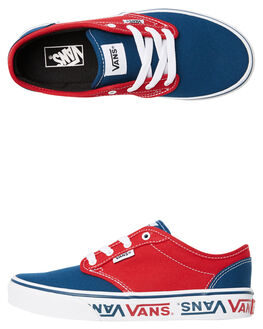 BLUE RED KIDS BOYS VANS SNEAKERS - VNA45JSVEH